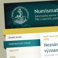 Česká numismatická společnost - web